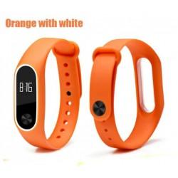 Ремешок Mi Fit для фитнес браслета - Xiaomi Mi band 2 (Orange with White)