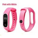 Ремешок Mi Fit для фитнес браслета - Xiaomi Mi band 2 (Pink with white)
