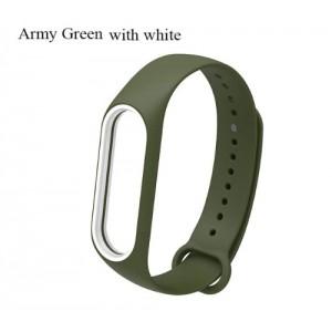 Ремешок Mi Fit для фитнес браслета - Xiaomi Mi band 3-4 (Army green white)