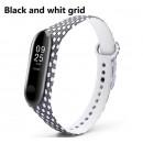 Ремешок Mi Fit для фитнес браслета - Xiaomi Mi band 3-4 (Black and white grid)