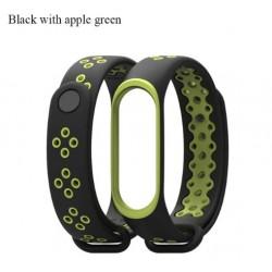 Ремешок Mi Fit для фитнес браслета - Xiaomi Mi band 3 (Black apple green)