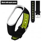 Ремешок Mi Fit для фитнес браслета - Xiaomi Mi band 3 (Black apple green 3)