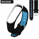 Ремешок Mi Fit для фитнес браслета - Xiaomi Mi band 3-4 (Black with blue 3)