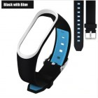 Ремешок Mi Fit для фитнес браслета - Xiaomi Mi band 3 (Black with blue 3)