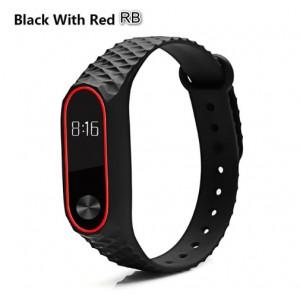 Ремешок Mi Fit для фитнес браслета - Xiaomi Mi band 2 (Black with red RB)