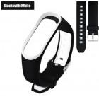 Ремешок Mi Fit для фитнес браслета - Xiaomi Mi band 3 (Black with white 3)
