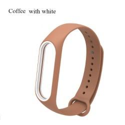 Ремешок Mi Fit для фитнес браслета - Xiaomi Mi band 3 (Coffee with white)