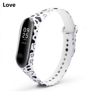 Ремешок Mi Fit для фитнес браслета - Xiaomi Mi band 3-4 (Love)