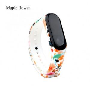 Ремешок Mi Fit для фитнес браслета - Xiaomi Mi band 3-4 (Maple Flowers)