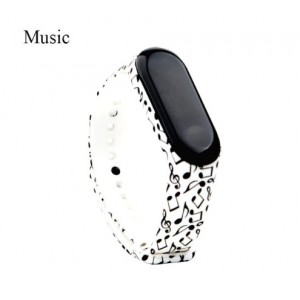 Ремешок Mi Fit для фитнес браслета - Xiaomi Mi band 3-4 (Music)