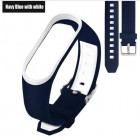 Ремешок Mi Fit для фитнес браслета - Xiaomi Mi band 3 (Navy blue with white 3)