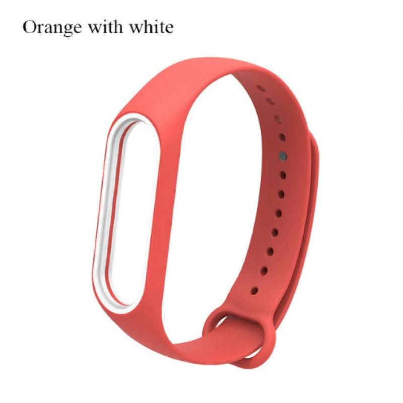 Ремешок Mi Fit для фитнес браслета - Xiaomi Mi band 3-4 (Orange with white)