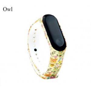 Ремешок Mi Fit для фитнес браслета - Xiaomi Mi band 3-4 (Owl)