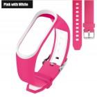 Ремешок Mi Fit для фитнес браслета - Xiaomi Mi band 3 (Pink with white 3)