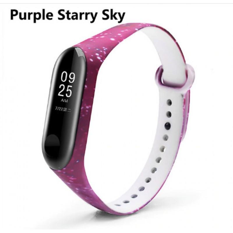 Ремешок Mi Fit для фитнес браслета - Xiaomi Mi band 3-4 (Purple Starry Sky)
