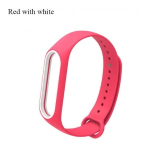 Ремешок Mi Fit для фитнес браслета - Xiaomi Mi band 3-4 (Red with white)