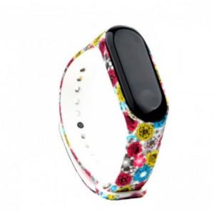 Ремешок Mi Fit для фитнес браслета - Xiaomi Mi band 3-4 (Rich Flowers)