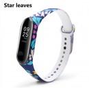 Ремешок Mi Fit для фитнес браслета - Xiaomi Mi band 3-4 (Star Leaves)