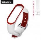 Ремешок Mi Fit для фитнес браслета - Xiaomi Mi band 3 (White with red 3)