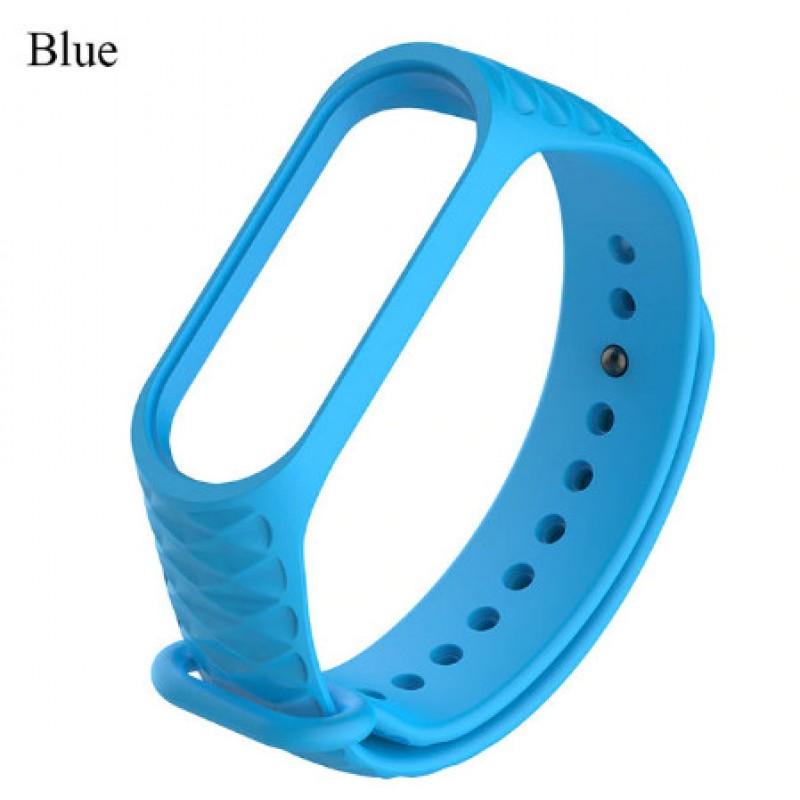 Ремешок Mi Fit для фитнес браслета - Xiaomi Mi band 3-4 (blue 3)