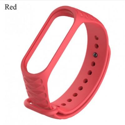 Ремешок Mi Fit для фитнес браслета - Xiaomi Mi band 3-4 (red 3)