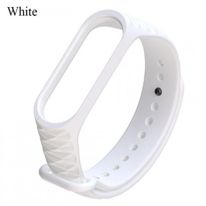 Ремешок Mi Fit для фитнес браслета - Xiaomi Mi band 3-4 (white 3)