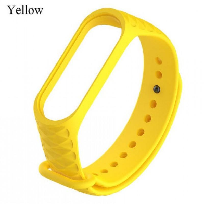 Ремешок Mi Fit для фитнес браслета - Xiaomi Mi band 3-4 (yellow 3)