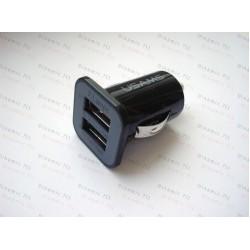 Автомобильное зарядное устройство на 2 usb входа. ( 3 Ампера + 1.2 ампера)