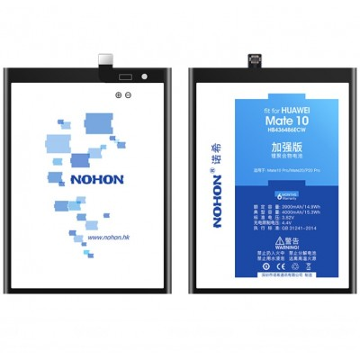 Оригинальная батарея Mate 10 NOHON - 4000 Mah для Huawei Mate 10, 20 Pro, P20 Pro