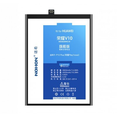 Оригинальная батарея V10 NOHON - 4000 Mah для Huawei Nova 3, V10, Honor Play, 8x