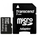 Флэш карта Transcend 32Gb microSDHC class 10 (TS32GUSDHC10) 32 Gb, microSD, с SD адаптером