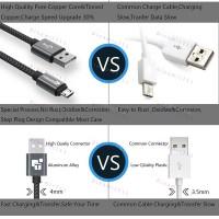 Низкопрофильный кабель TIEGEM Micro Usb 2A USB 3.1 - 480Mbps нейлон (3 метра)