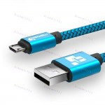 Оригинальный низкопрофильный кабель TIEGEM Micro Usb 2A,  USB 2.0 до 480Mbps с высоким качеством нейлона