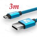 Оригинальный низкопрофильный кабель 3M TIEGEM Micro Usb 2A,  USB 2.0 до 480Mbps с высоким качеством нейлона