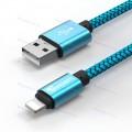 Низкопрофильный кабель TIEGEM iPhone 8 Pin USB 3.1 - 480Mbps нейлон (3 метра)