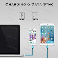 Низкопрофильный кабель TIEGEM iPhone 8 Pin USB 3.1 - 480Mbps нейлон (1 метр)
