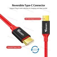 Оригинальный низкопрофильный кабель TIEGEM USB 3.1 Type-C, USB - 480Mbps с высоким качеством нейлона. 24К Позолоченный разьем