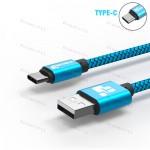 Низкопрофильный кабель TIEGEM Type-C, USB 3.1 - 480Mbps нейлон (1 метр)