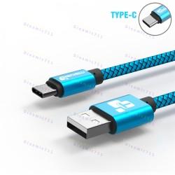 Низкопрофильный кабель TIEGEM Type-C, USB 3.1 - 480Mbps нейлон (3 метра)