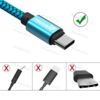 Оригинальный низкопрофильный кабель TIEGEM USB Type-C, USB 3.1 - 480Mbps с высоким качеством нейлона