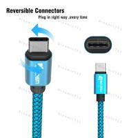 Оригинальный низкопрофильный кабель 3m TIEGEM USB Type-C, USB 3.1 - 480Mbps с высоким качеством нейлона