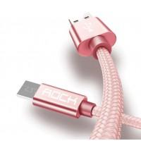 Оригинальный кабель с нейлоновой оплёткой ROCK - Micro usb 2A  (1 метр)