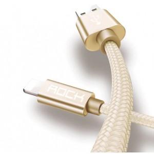 Оригинальный кабель с нейлоновой оплёткой ROCK - iPhone usb 2A  (1 метр)