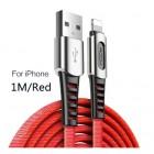 Оригинальный кабель с нейлоновой оплёткой и цинковым сплавом ROCK - iPhone