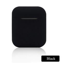 Мягкий силиконовый противоударный чехол - Airpods Apple (Black)