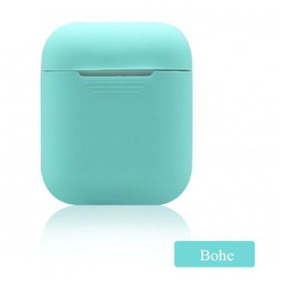 Мягкий силиконовый противоударный чехол - Airpods Apple (Bohe)