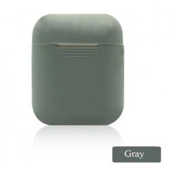 Мягкий силиконовый противоударный чехол - Airpods Apple (Gray)