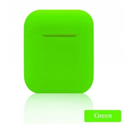 Мягкий силиконовый противоударный чехол - Airpods Apple (Green)