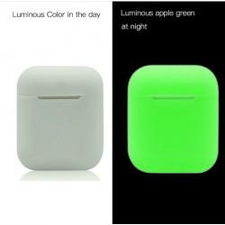 Мягкий силиконовый противоударный чехол - Airpods Apple (Luminous)