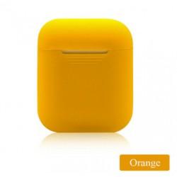 Мягкий силиконовый противоударный чехол - Airpods Apple (Orange)